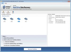 SysTools Hard Drive Data Recovery Crack 16.3 +Free Download [Latest]